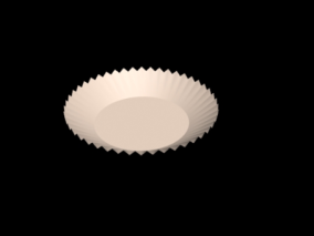 纸盘子3d模型