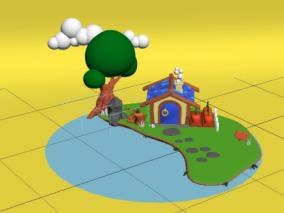 自然场景cg模型