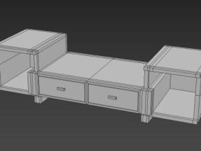 电视柜cg模型