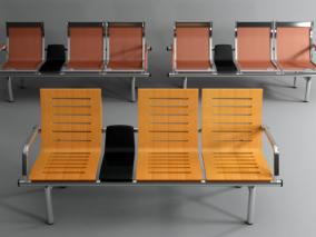 现代公共椅3d模型