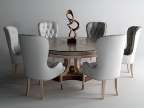 现代简欧餐桌椅组合