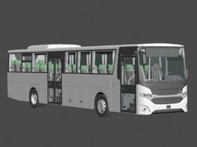公交车3D模型(精致内饰)