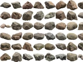 现代岩石石头组合