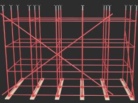 盘扣式脚手架-房建施工-桥梁施工等施工现场脚手架(此模型属于