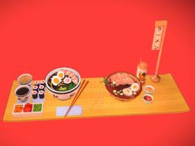 日本料理 牛肉面 冷面 寿司 可爱食物