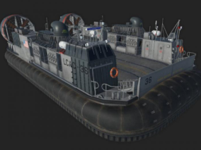 气垫船cg模型