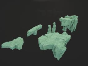 山石3d模型