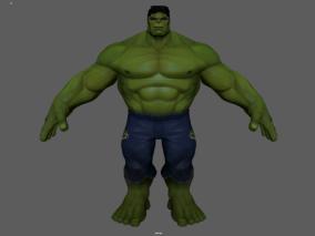 绿巨人  浩克   漫威英雄   带精细绑定和表情