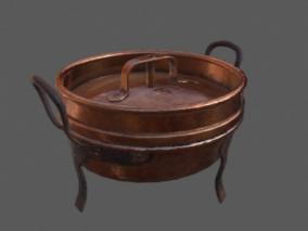 铜锅3d模型