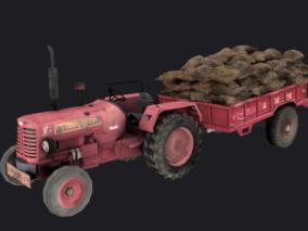 吃鸡游戏车辆  农用四轮车  绝地求生车辆  农用拖车