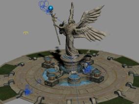 雕塑cg模型