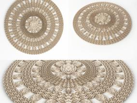 现代圆形编织地毯 生活用品