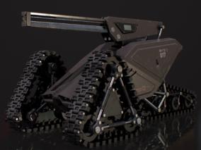 PBR-科幻移动炮台