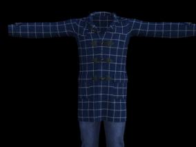 男孩服饰   格子大衣 牛仔裤   套装