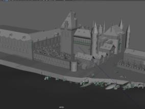 场景  建筑群 堡垒 古堡 古建筑 魔法城堡