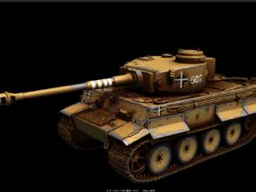 PBR影视 坦克 虎式坦克 重型坦克 二战德国纳粹 豹式坦克