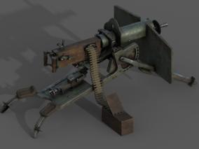 马克沁机枪模型
