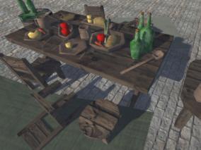 unity模型 低模农具用品集合 锤子 箱子罐子 瓶子