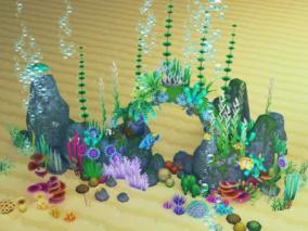 unity模型 水下植物 珊瑚 海草