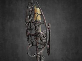 中世纪  游戏道具 古代 烛台 灯具 挂灯 吊灯 蜡烛 装饰