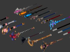 Q版 卡通 魔杖 法杖 武器 合集
