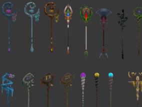 Q版 卡通 武器 魔杖 法杖 合集