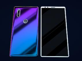 蓝色手机模型(OC渲染器)