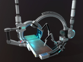 PBR-科幻扫描仪 实验室 仪器