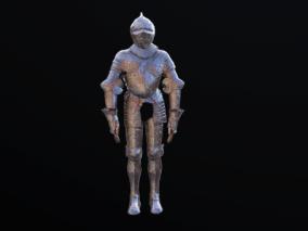 盔甲 银甲 中世纪 写实类 次世代手绘模型