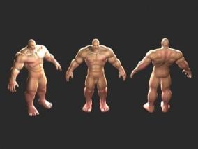 三渲二 男裸模 模特 人体
