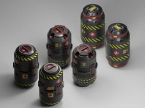PBR次时代3种科幻 装置 桶