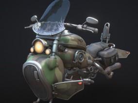 PBR-科幻哈雷悬浮摩托车