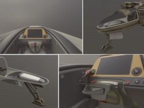 次时代 科幻喷气式飞机 带驾驶舱