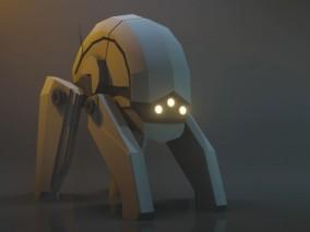 带绑定动画 科幻机器人 装置