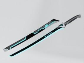 赛博朋克刀3d模型
