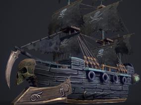 海盗船cg模型