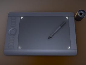 手绘板 电子产品cg模型