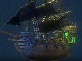 海盗船 古代船cg模型