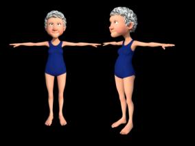 卡通老奶奶3d模型