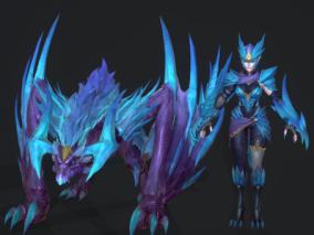 龙女巨龙3d模型