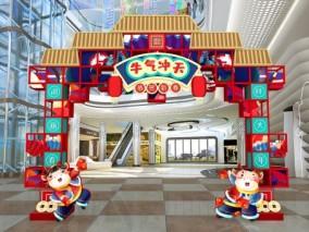 春节新年门头3d模型