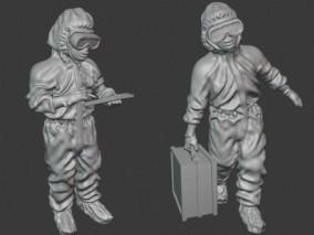 防疫医生3d打印模型