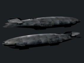 高清科幻飞艇3d模型