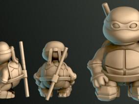 忍者神龟人物雕塑3d打印