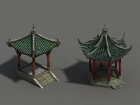 凉亭3d模型