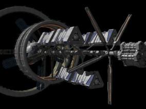 空间站 科幻补给站 宇宙太空飞船 星际母舰 太空通讯站