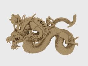 中国龙 工艺雕塑 PBR 次世代 超写实 艺术品 工艺品