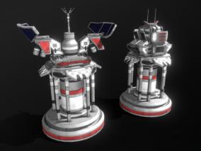 PBR-两款科幻炮塔 雷达站 防御