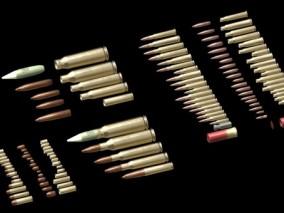 不同口径的子弹3d模型