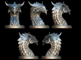 西方龙头 雕塑